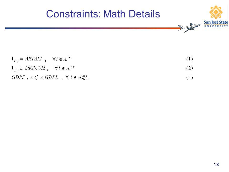 Constraints: Math Details 18