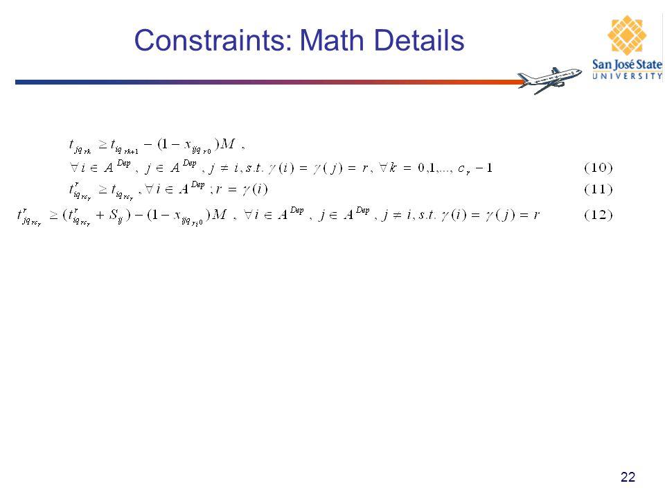 Constraints: Math Details 22