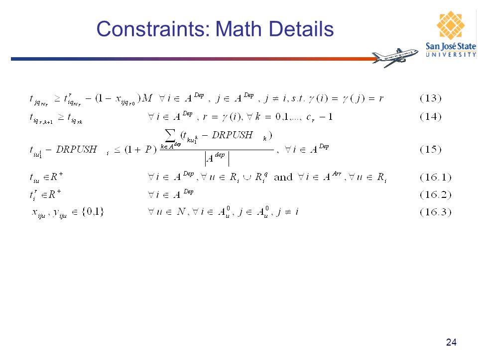 Constraints: Math Details 24