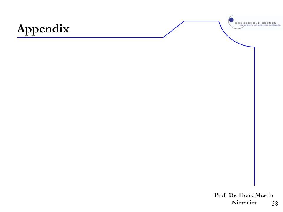 38 Prof. Dr. Hans-Martin Niemeier Appendix