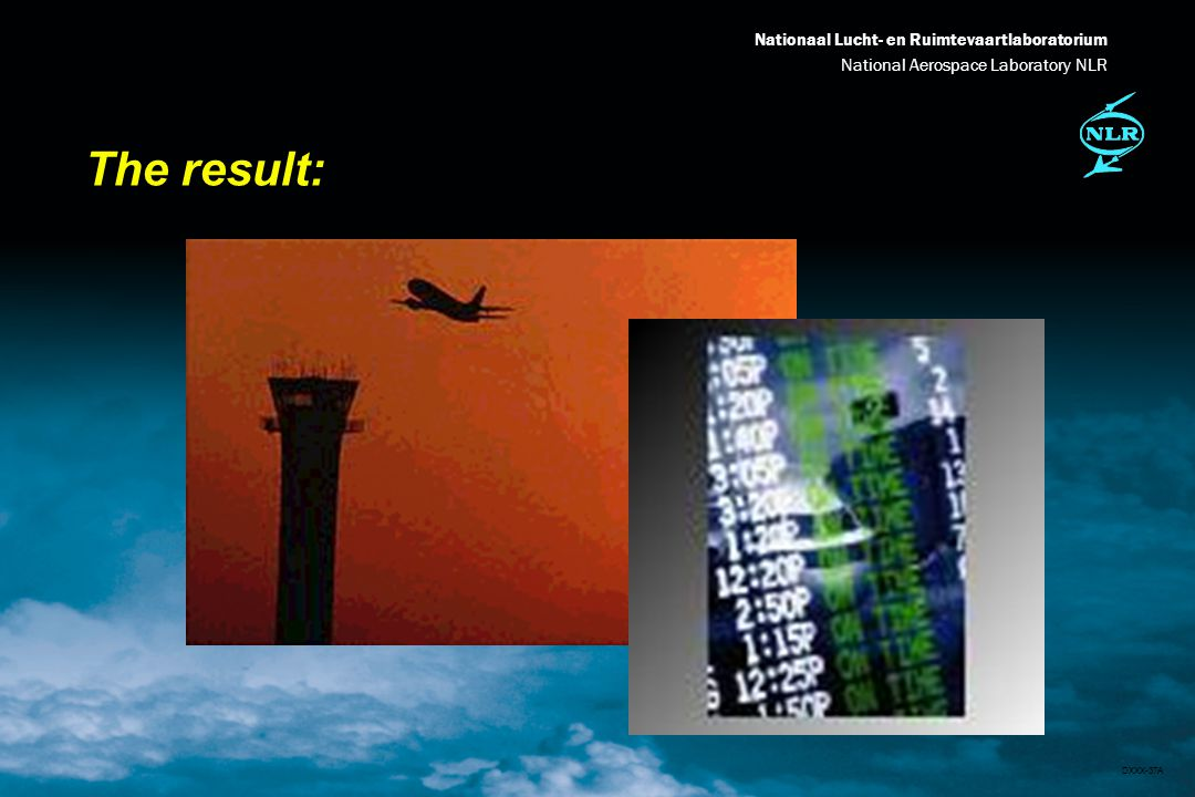 Nationaal Lucht- en Ruimtevaartlaboratorium National Aerospace Laboratory NLR DXXX-37A The result: