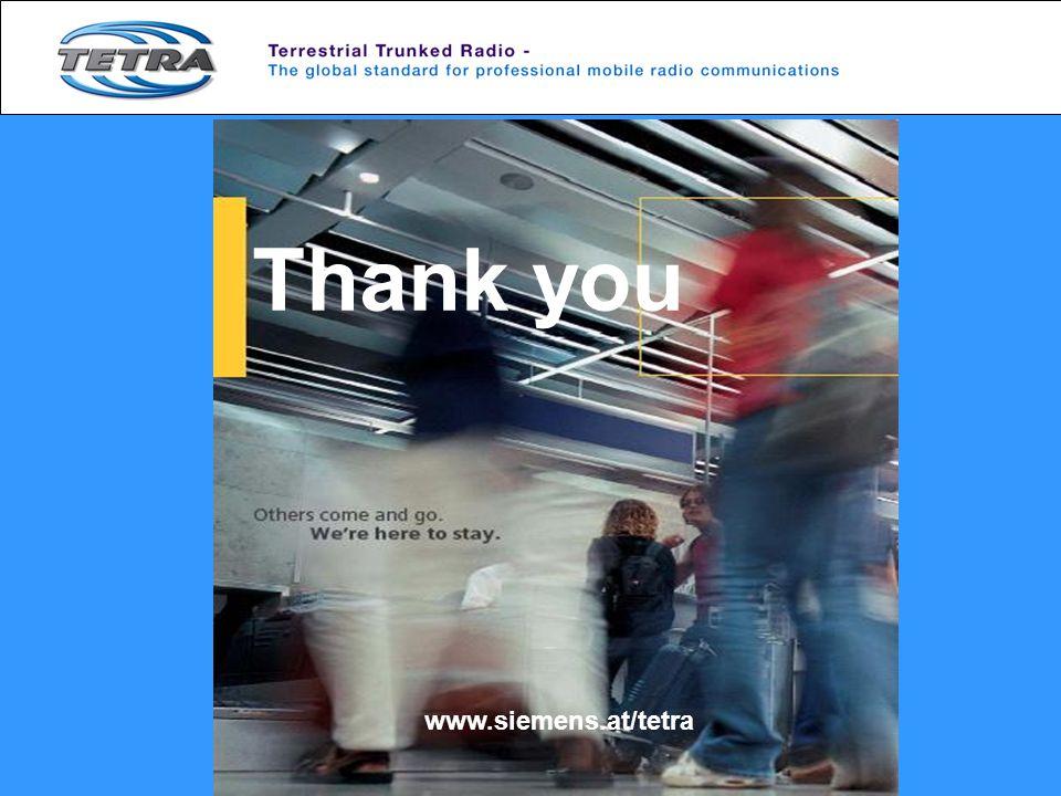 Thank you www.siemens.at/tetra