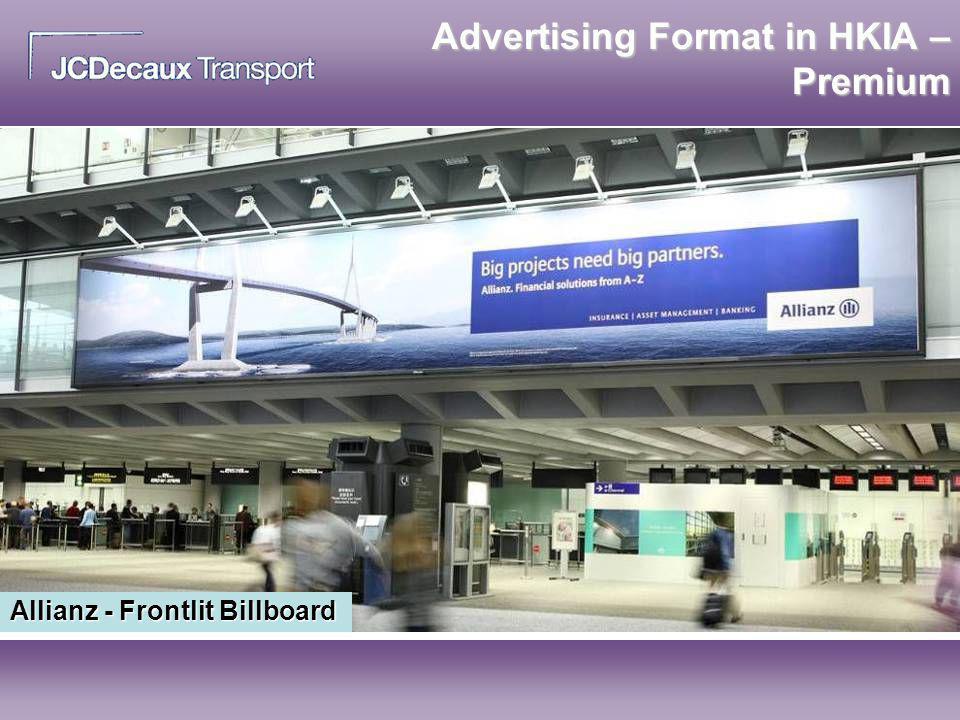 Allianz - Frontlit Billboard Advertising Format in HKIA – Premium