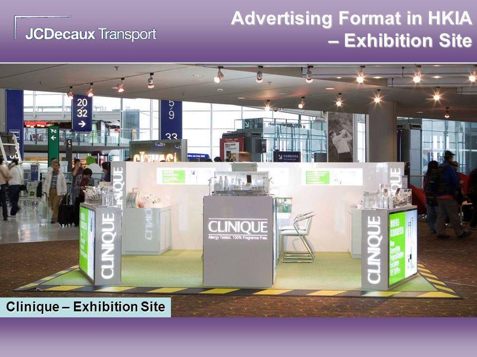 Advertising Format in HKIA – Exhibition Site Clinique – Exhibition Site