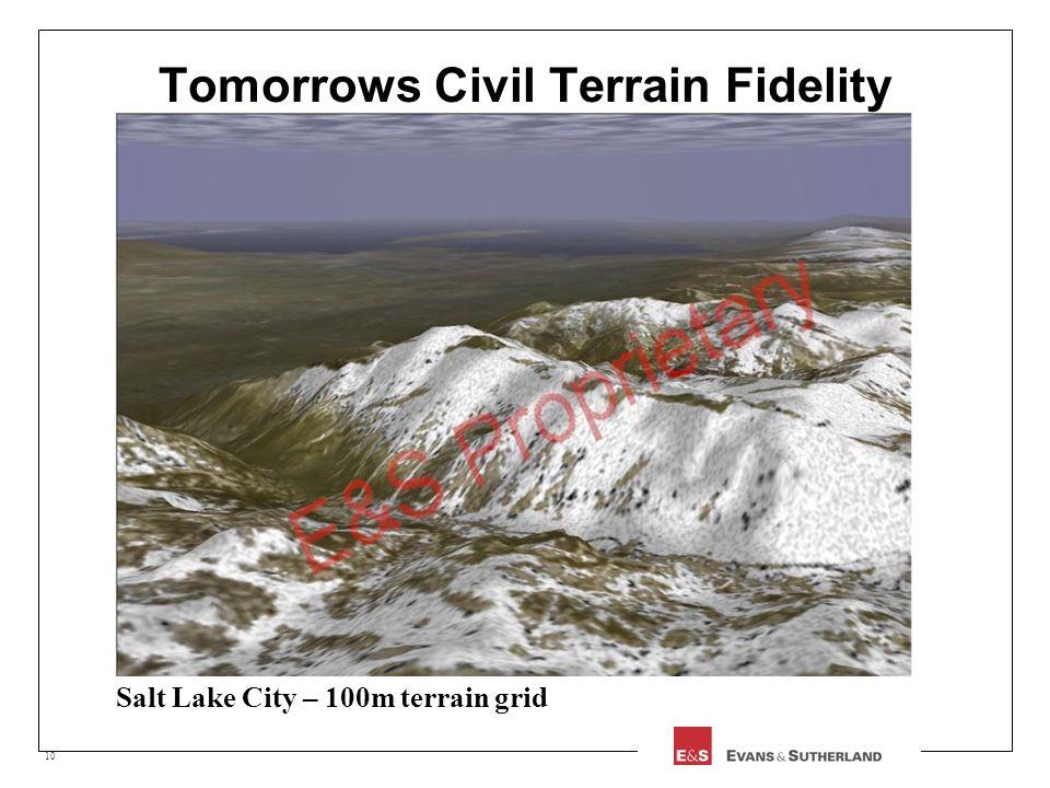 10 Tomorrows Civil Terrain Fidelity Salt Lake City – 100m terrain grid