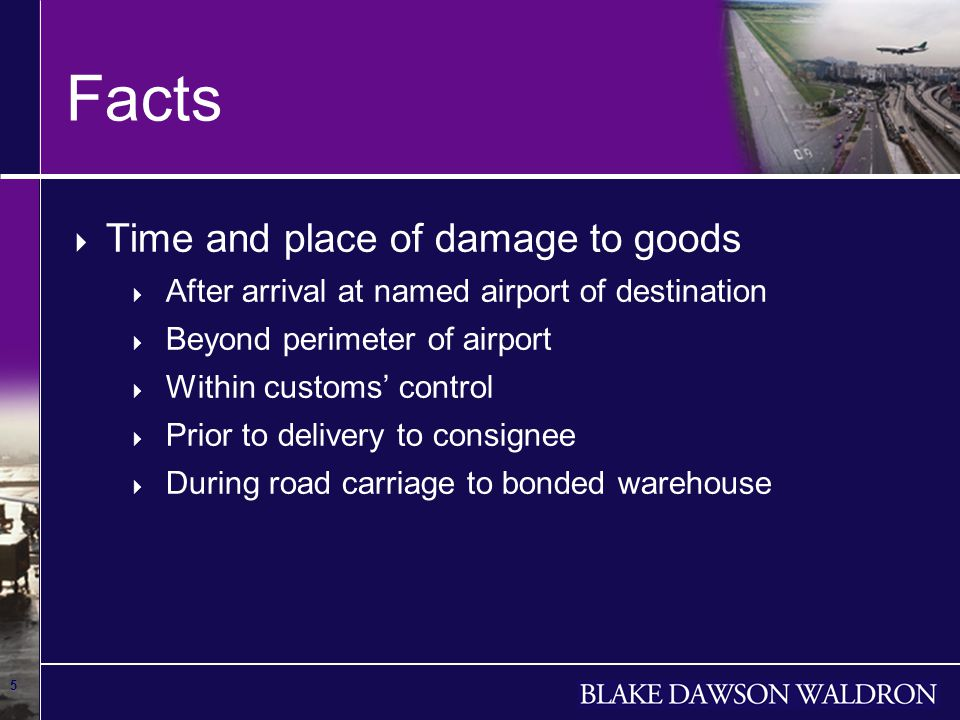 6 Facts Airport of departure Berlin - Tegel Airport of departure Berlin - Tegel Airport of destination Melbourne Airport of destination Melbourne Place of delivery Bonded Warehouse Place of delivery Bonded Warehouse