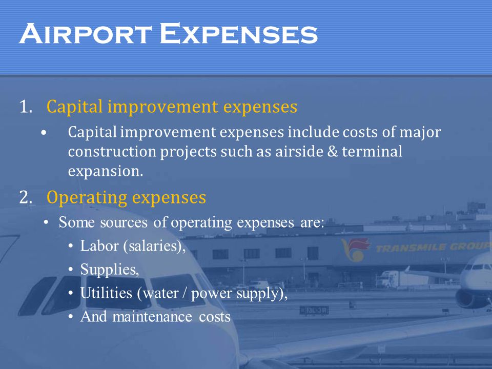 The taxes/fees on the ticket helps to support airports. How?