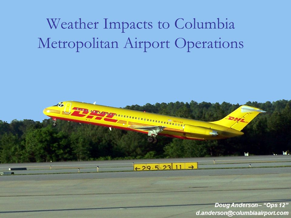 Topics Department Overview The Airport System Severe Weather Processes Operational Impacts Recent FAA Changes to Airport Winter Ops