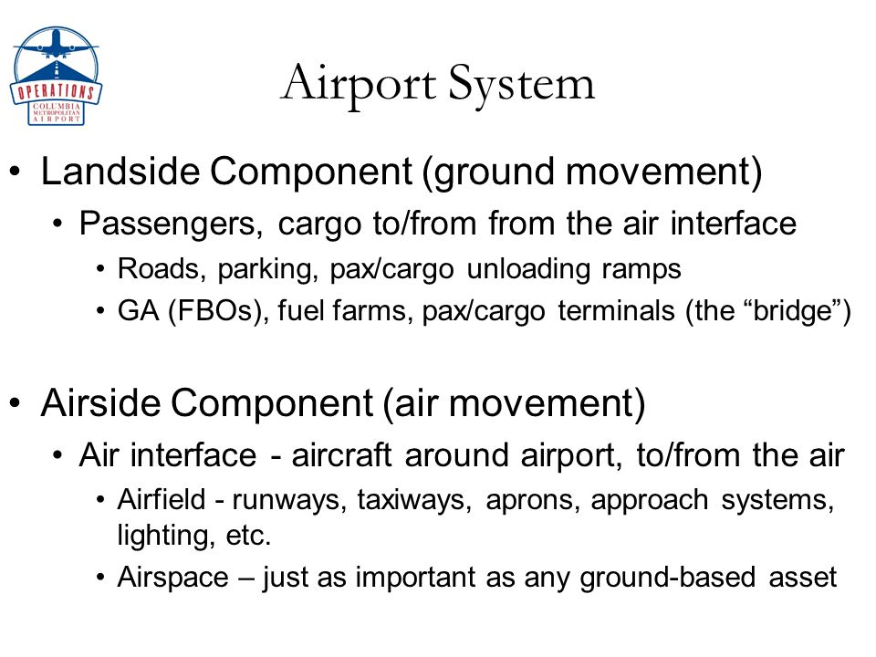 Airport System Weather…especially unplanned creates DELAYS Can lead to poor operational decisions, affects: Capacity…ability to handle traffic volume over time Safety (concern #1) Costs up...revenues (concern #2) down We are a heavily-dependent weather intel user Good intel aids decision processes