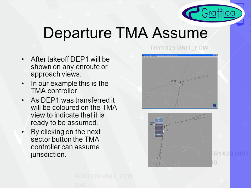 Departure TMA Assume After takeoff DEP1 will be shown on any enroute or approach views.