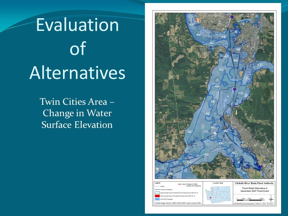 Twin Cities Area – Change in Water Surface Elevation