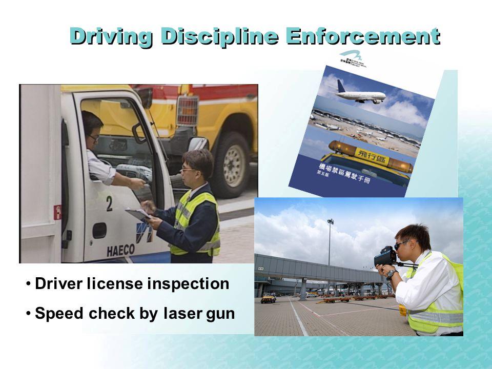 Driving Discipline Enforcement Driver license inspection Speed check by laser gun