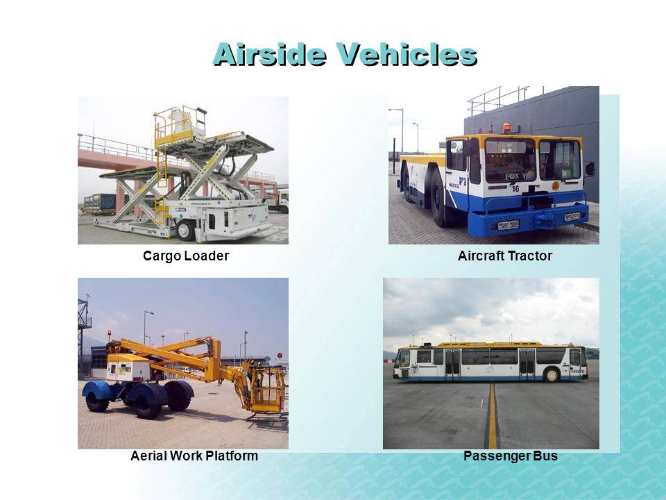 Airside Vehicles Aerial Work Platform Cargo LoaderAircraft Tractor Passenger Bus
