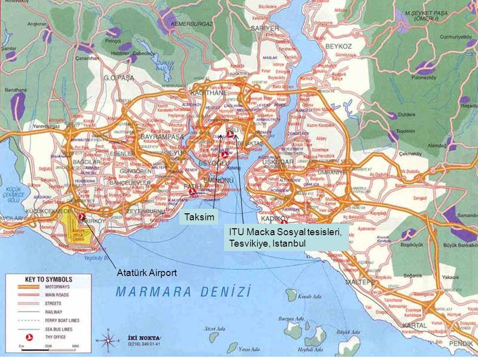 Atatürk Airport Taksim ITU Macka Sosyal tesisleri, Tesvikiye, Istanbul