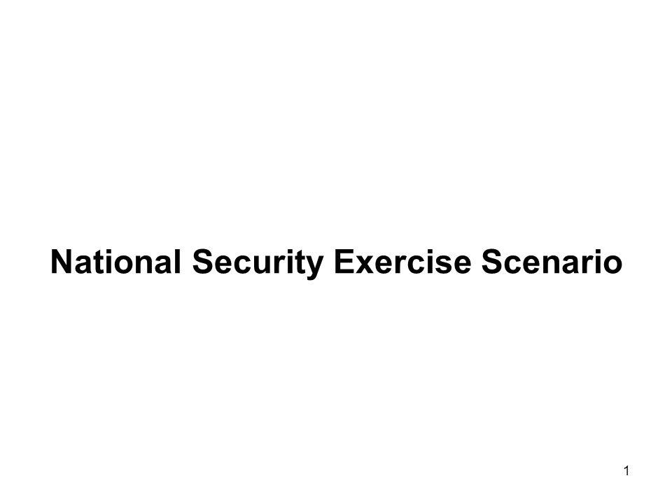 1 National Security Exercise Scenario