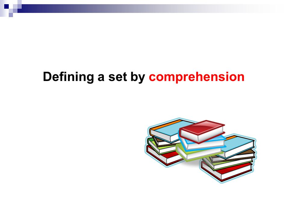 Defining a set by comprehension