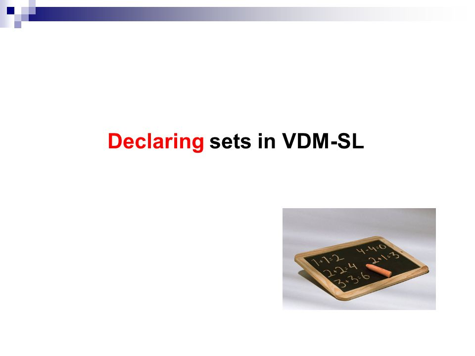 Declaring sets in VDM-SL