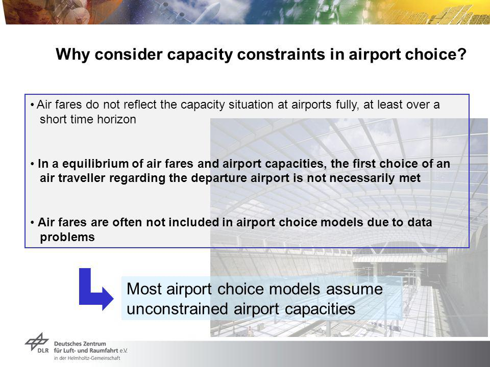 Why consider capacity constraints in airport choice.