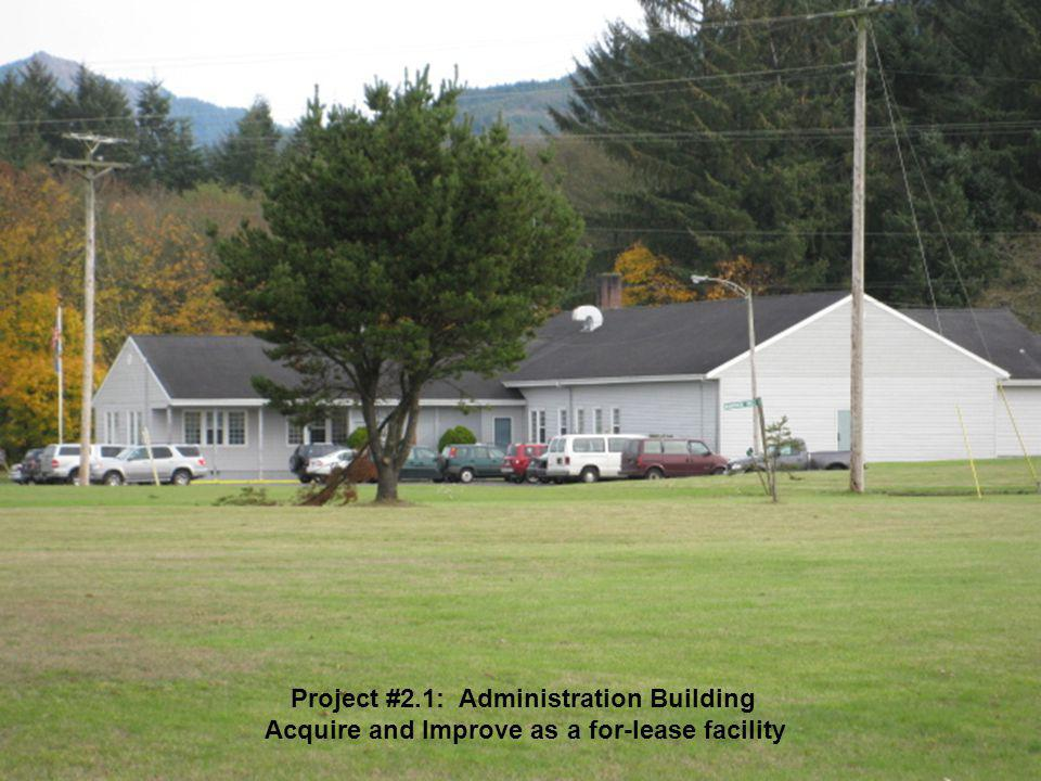 Project #2.1: Administration Building Acquire and Improve as a for-lease facility