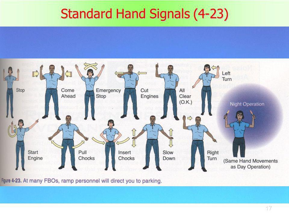 17 Standard Hand Signals (4-23)