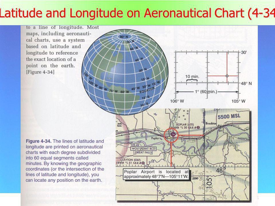 44 Latitude and Longitude on Aeronautical Chart (4-34)