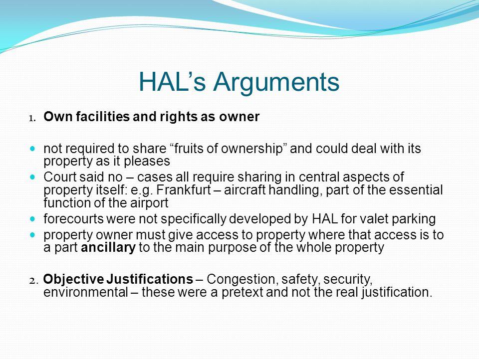 HALs Arguments 1.