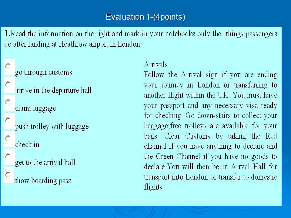 Evaluation 1-(4points)
