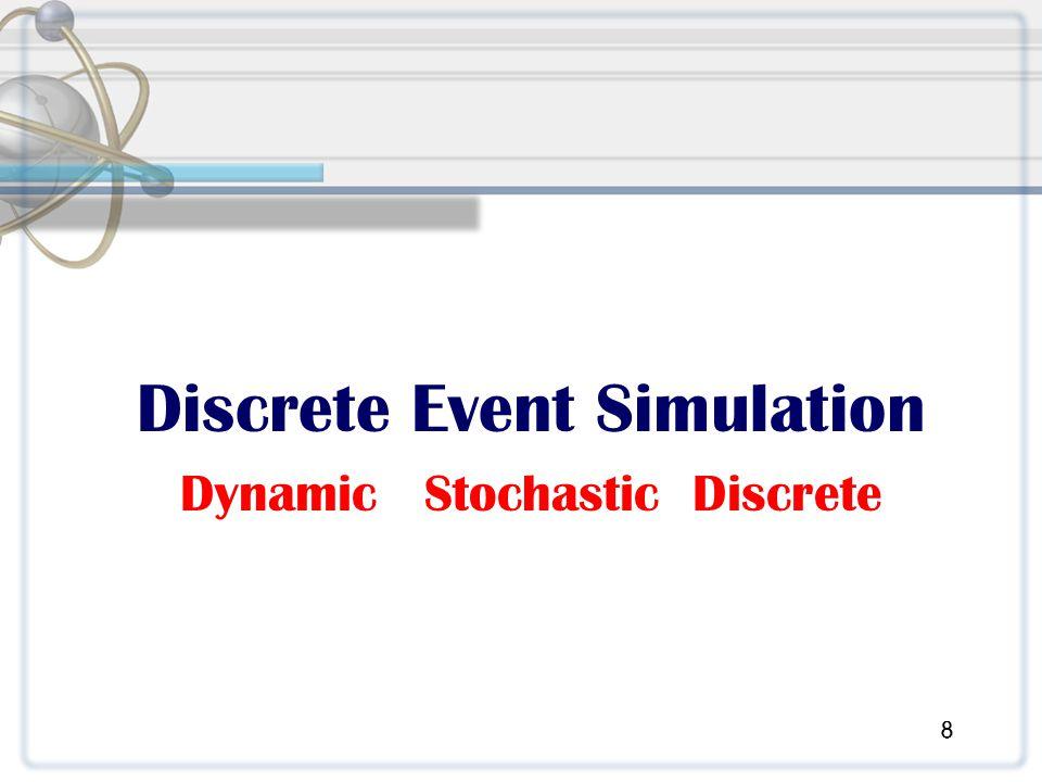 Discrete Event Simulation Dynamic Stochastic Discrete 8