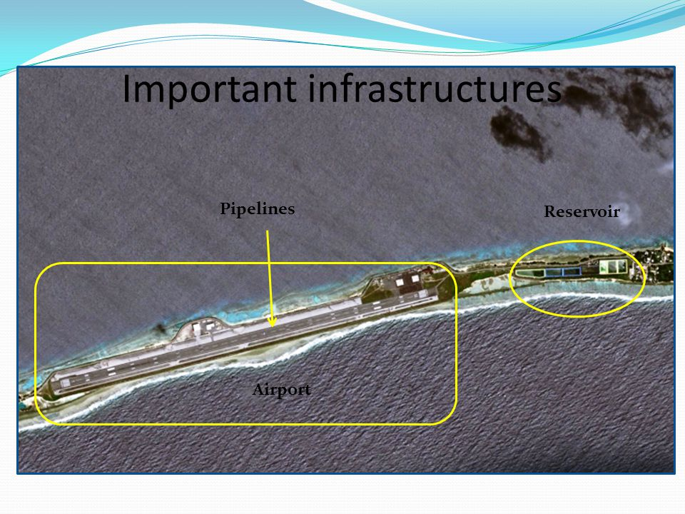 Important infrastructures Reservoir Pipelines Airport