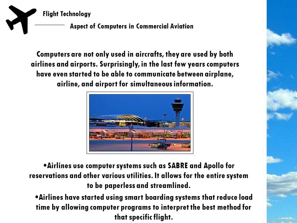 Flight Technology New Age of Aircraft FMC Computer HUD TCAS
