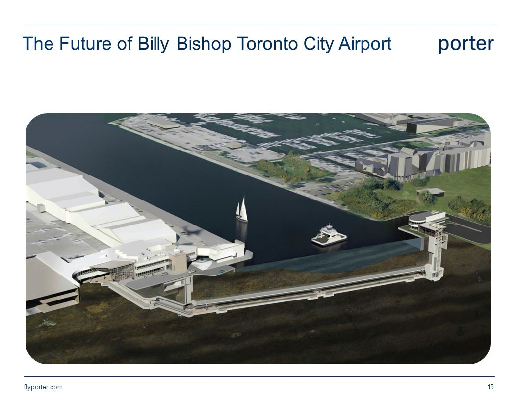 Pedestrian tunnel to be completed in 2014 The Future of Billy Bishop Toronto City Airport flyporter.com15