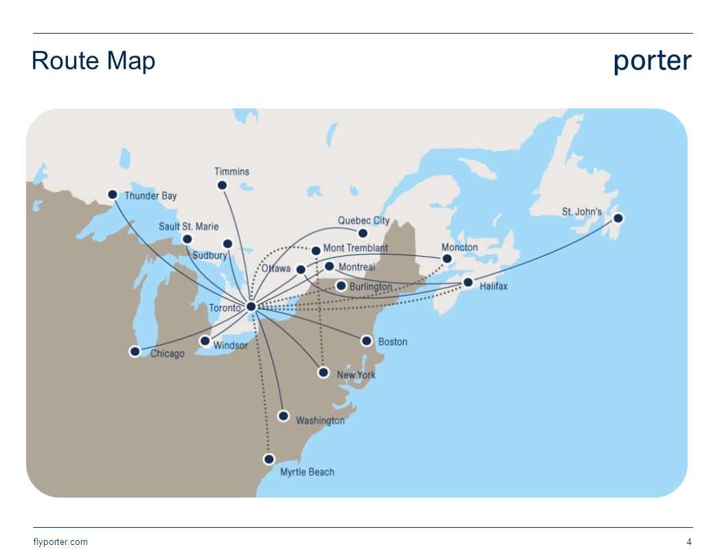 Route Map flyporter.com4