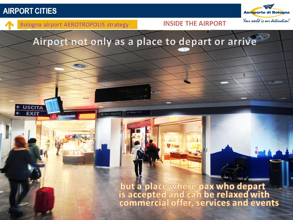 AIRPORT CITIES INSIDE THE AIRPORT Bologna airport AEROTROPOLIS strategy