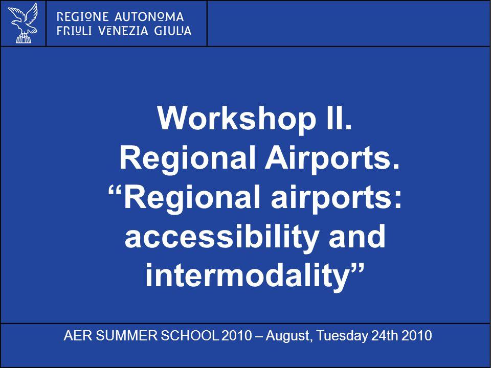 Al servizio di gente unica Workshop II. Regional Airports.