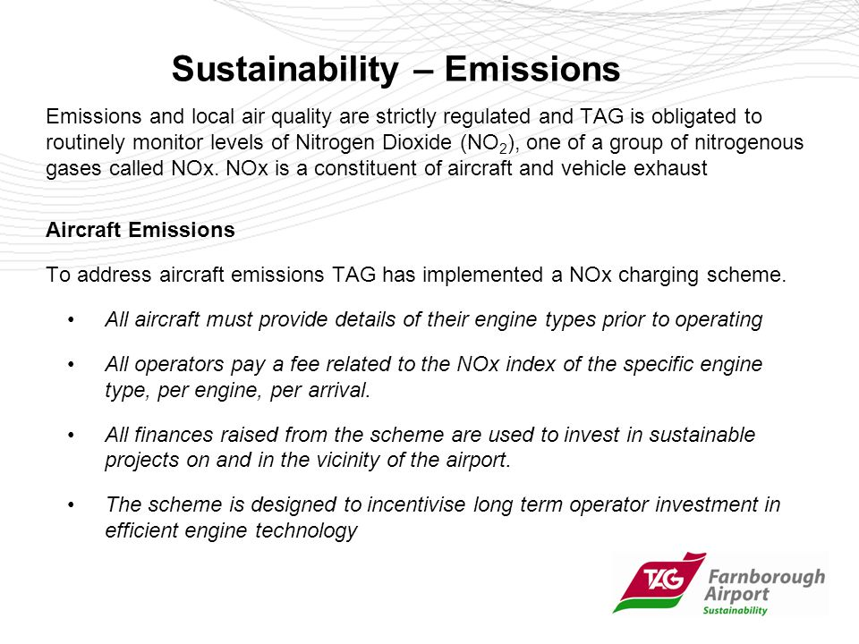 Sustainability – Carbon Reduction Addressing Climate Change is a major part of TAG Farnborough Airports work in sustainable development.