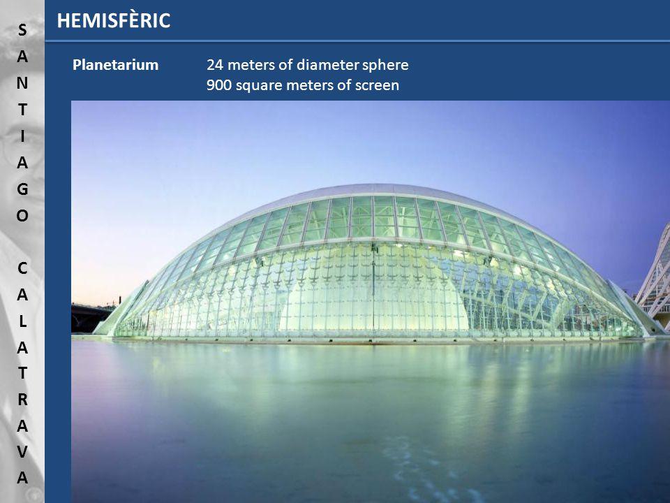 HEMISFÈRIC Planetarium 24 meters of diameter sphere 900 square meters of screen