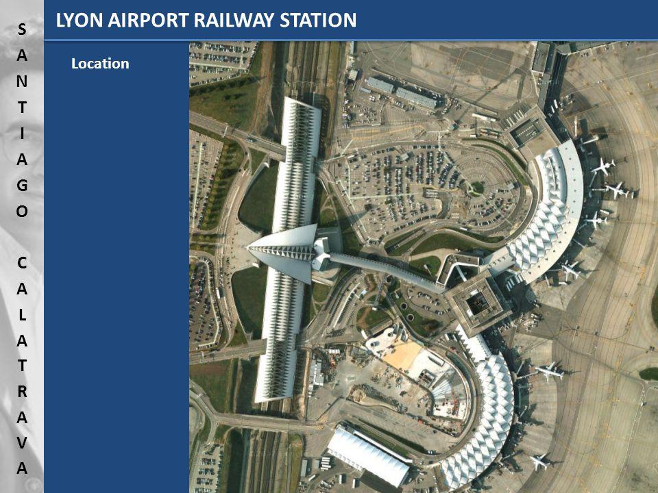 LYON AIRPORT RAILWAY STATION Location