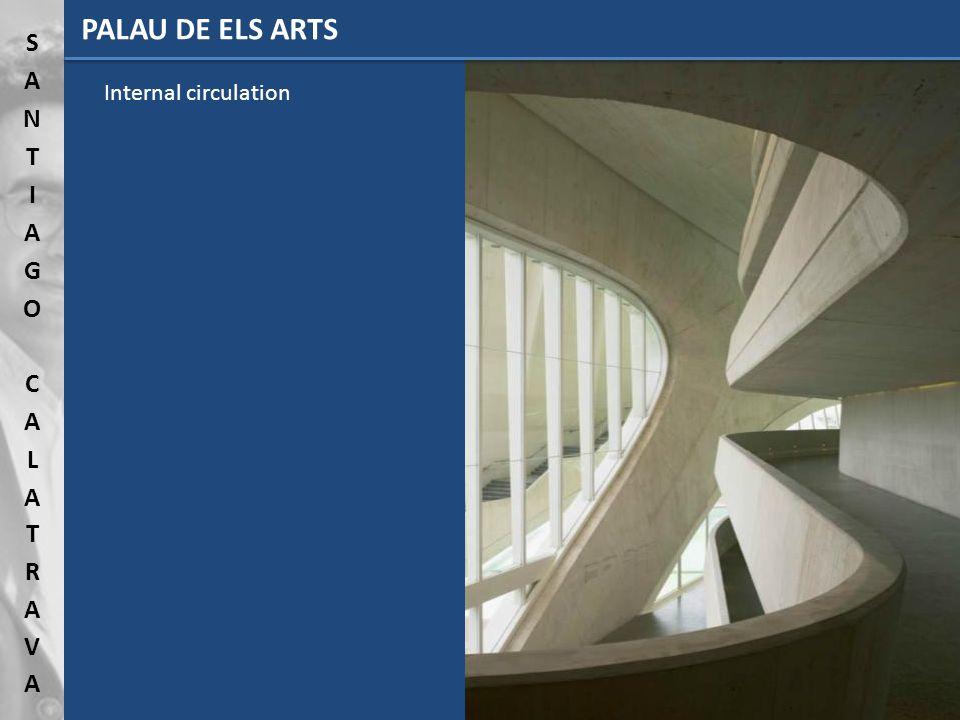 PALAU DE ELS ARTS Internal circulation