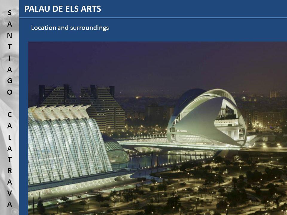 PALAU DE ELS ARTS Location and surroundings