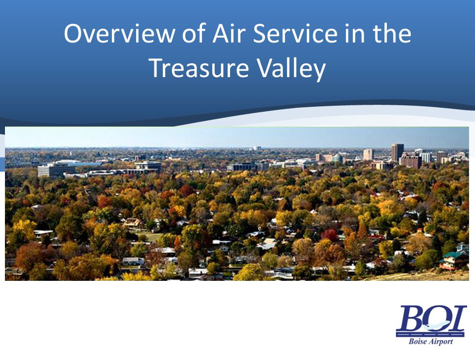 Overview of Air Service in the Treasure Valley