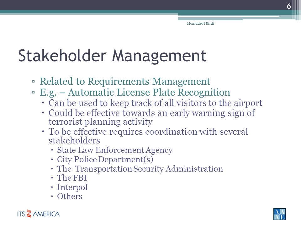 Stakeholder Management Related to Requirements Management E.g.