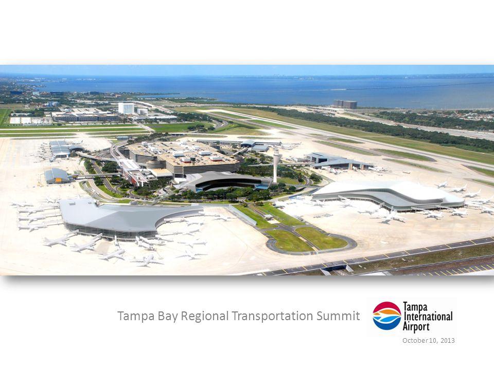 Tampa Bay Regional Transportation Summit October 10, 2013 Master Plan Phase 1: Decongestion Rendering of Consolidated Rental Car Center 12