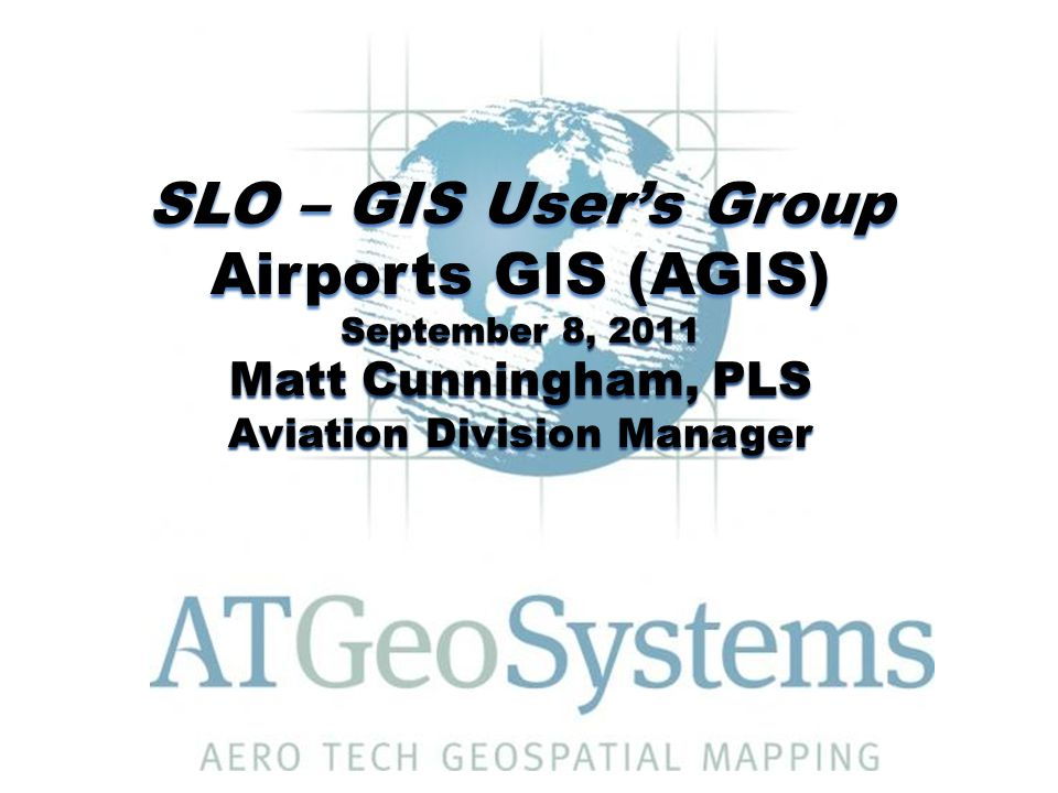 September 8, 2011Airports GIS