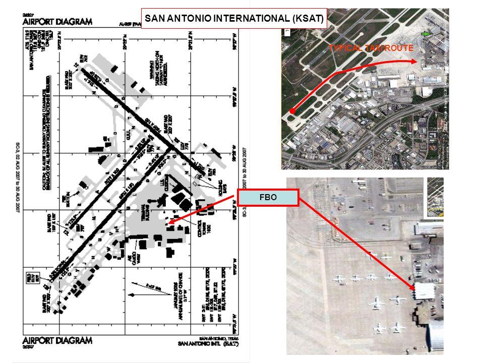 FBO TYPICAL TAXI ROUTE SAN ANTONIO INTERNATIONAL (KSAT)