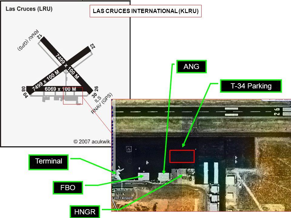 Terminal FBO HNGR ANG T-34 Parking LAS CRUCES INTERNATIONAL (KLRU)