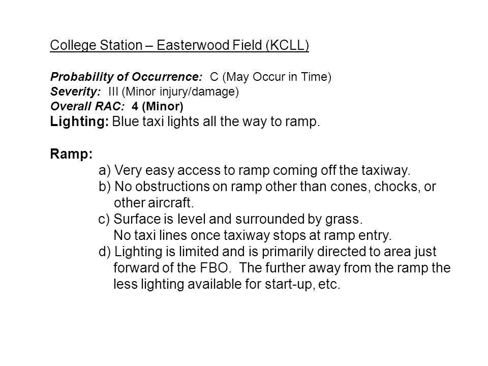 Ramp Lighting Recently Painted Yellow Lines LAS CRUCES INTERNATIONAL (KLRU) RAMP AREA