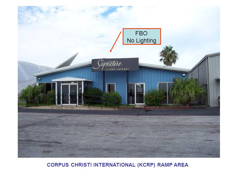 FBO No Lighting CORPUS CHRISTI INTERNATIONAL (KCRP) RAMP AREA