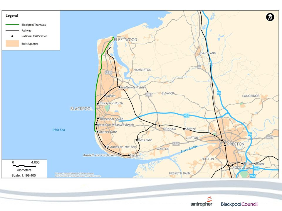 Bus network 8+ buses per hour between St Annes/Lytham and Blackpool Frequent bus service which penetrates much deeper into urban areas than the tram