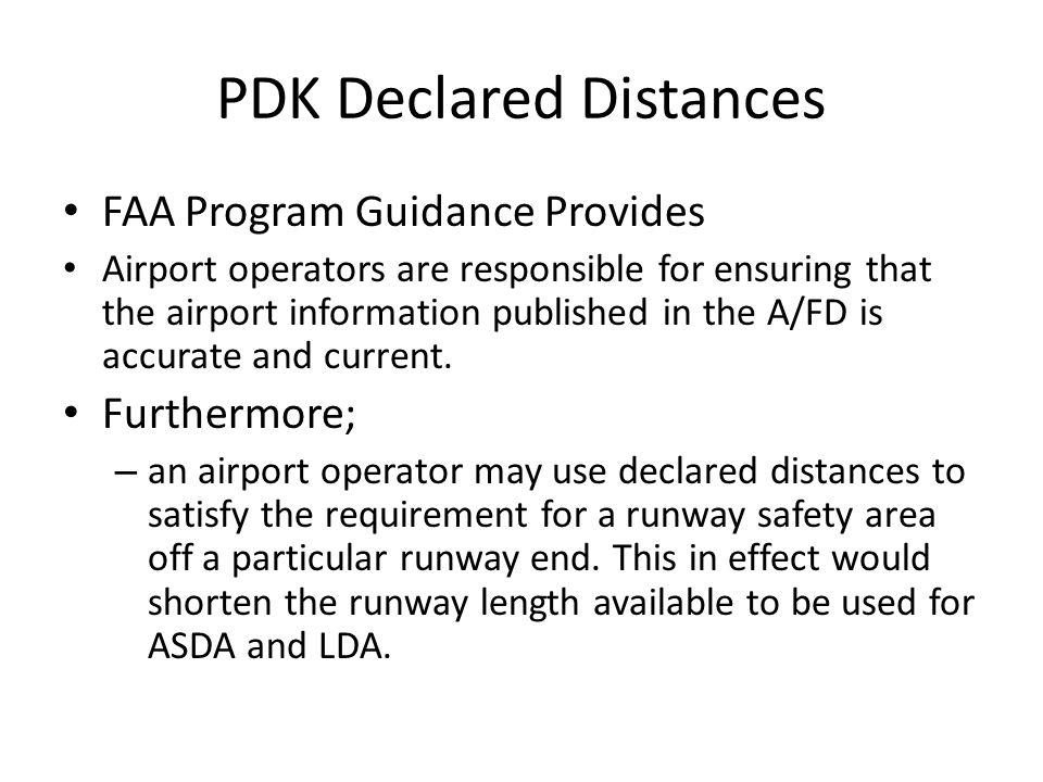 Example of Declared Distances