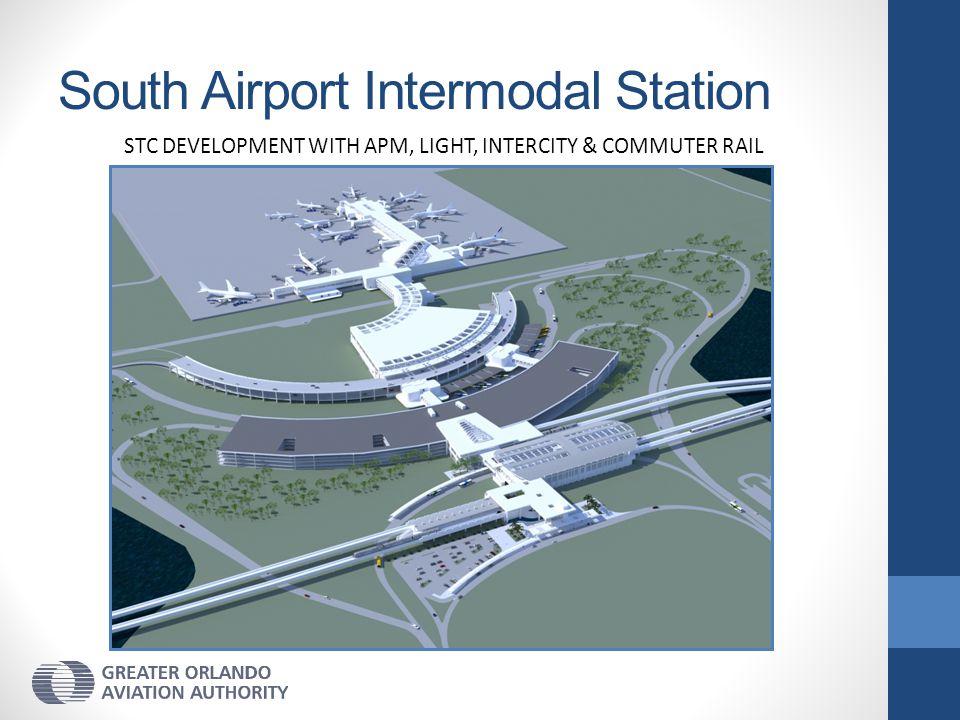 South Airport Intermodal Station STC DEVELOPMENT WITH APM, LIGHT, INTERCITY & COMMUTER RAIL